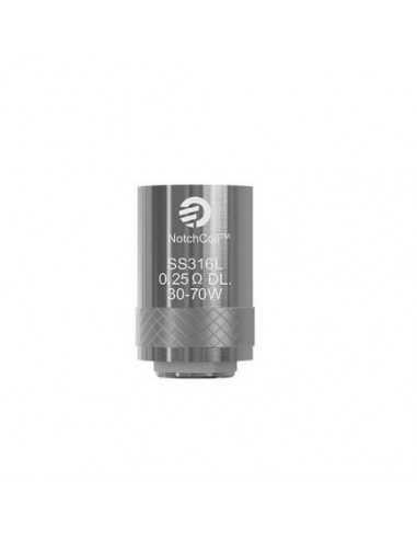 Testina Coil di ricambio NOTCHCOIL 0,25 ohm - Joyetech (5pz)