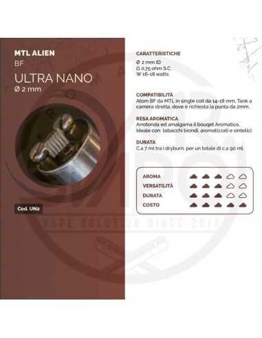 Coil ULTRA NANO ID 2mm MTL ALIEN - Breakill's Alien Lab (BF)