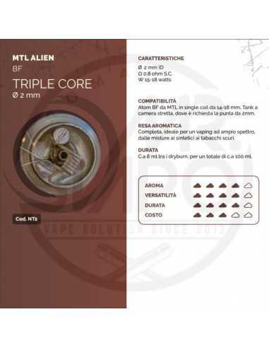 Coil TRIPLE CORE ID 2mm MTL ALIEN - Breakill's Alien Lab (BF)