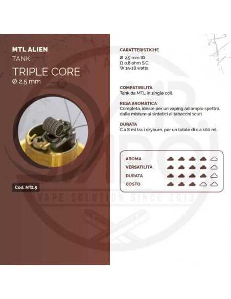 Coil TRIPLE CORE ID 2,5mm MTL ALIEN - Breakill's Alien Lab (Tank)