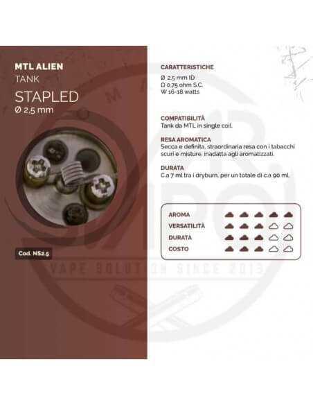 Coil STAPLED ID 2,5mm MTL ALIEN - Breakill's Alien Lab (Tank)