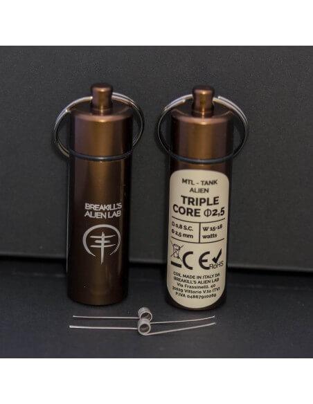 Coil TRIPLE CORE ID 2,5mm MTL ALIEN - Breakill's Alien Lab (Tank) packaging
