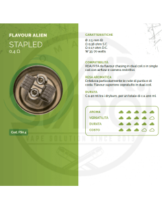 Coil STAPLED ID 2,5mm FLAVOUR ALIEN 0.4 ohm - Breakill's Alien Lab (FLAVOUR)