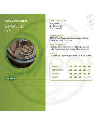 Coil STAPLED ID 2,5mm FLAVOUR ALIEN 0.3 ohm - Breakill's Alien Lab (FLAVOUR)