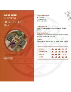 Coil DUAL CORE ID 3mm ALIEN 0.14 ohm - Breakill's Alien Lab (CLOUD)
