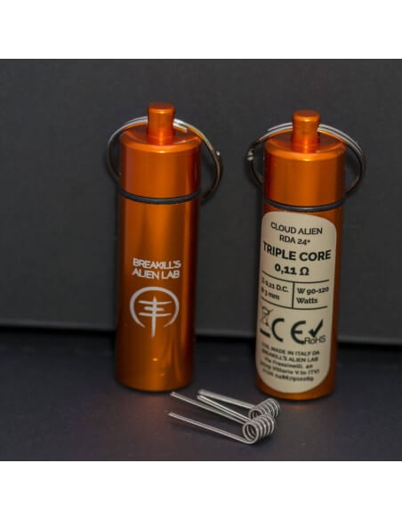 Coil TRIPLE CORE ID 3mm ALIEN 0.11 ohm - Breakill's Alien Lab (CLOUD) packaging