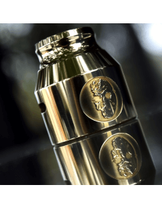 Grenade 21700 Cap Jason Mask Etched - Comp Lyfe (Brass)