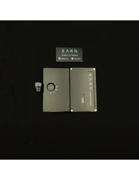 Set Pannelli tip e tasto in alluminio per Billet Box - Earn (Nero)