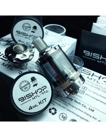 Bishop MTL RTA - Ambitions Mods x Vaping Gentlement (Gun Metal)