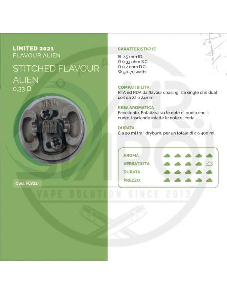Coil STITCHED FLAVOUR ALIEN ID 2.5mm 0.33 ohm - Breakill's Alien Lab (FLAVOUR ALIEN)