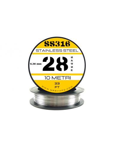 Filo SS 316L 0,32 mm - 28 AWG (10 metri)