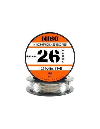 Filo Ni60 0,40 mm - 26 AWG (10 metri)