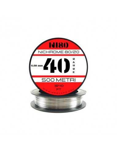 Filo Ni80 0,08 mm - 40 AWG (500 metri)