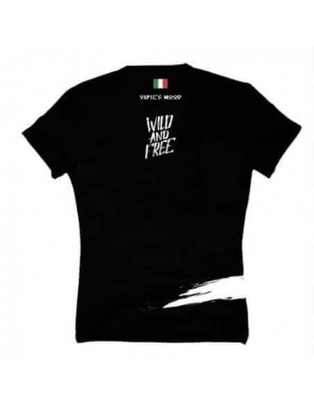 T-Shirt Wild And Free nera - Vaper's Mood (Size M)