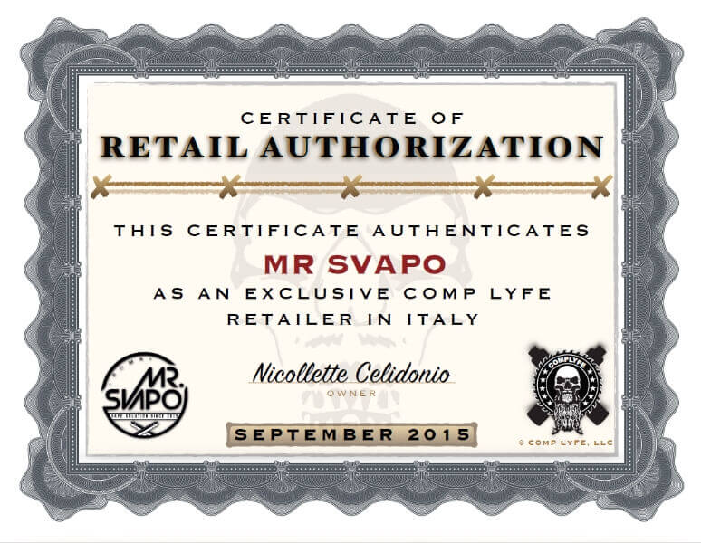 certificazione comp lyfe mrsvapo